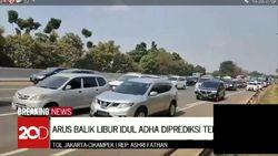 Jelang Petang, Arus Balik Idul Adha di Tol Cikampek Arah Jakarta Ramai Lancar