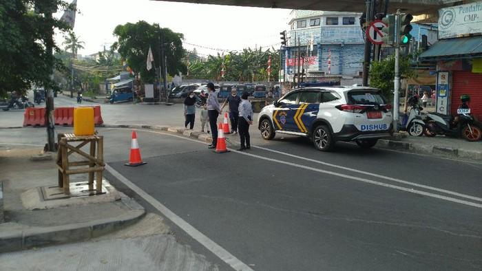 Suasana kawasan pesepeda Jalan Cipete Raya, Jaksel, Minggu (2/8) pagi.