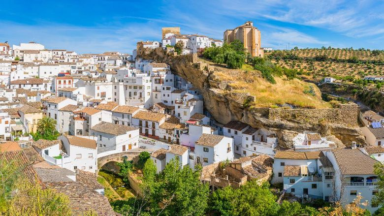 The beautiful village of Setenil de las Bodegas, Provice of Cadiz, Andalusia, Spain.