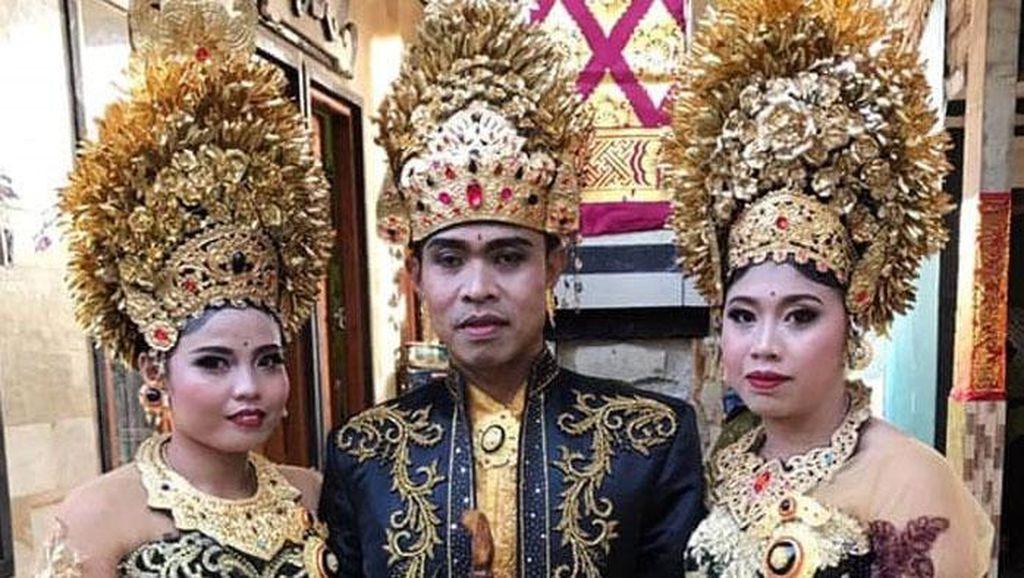 Duda di Bali Nikahi Dua Wanita Sekaligus