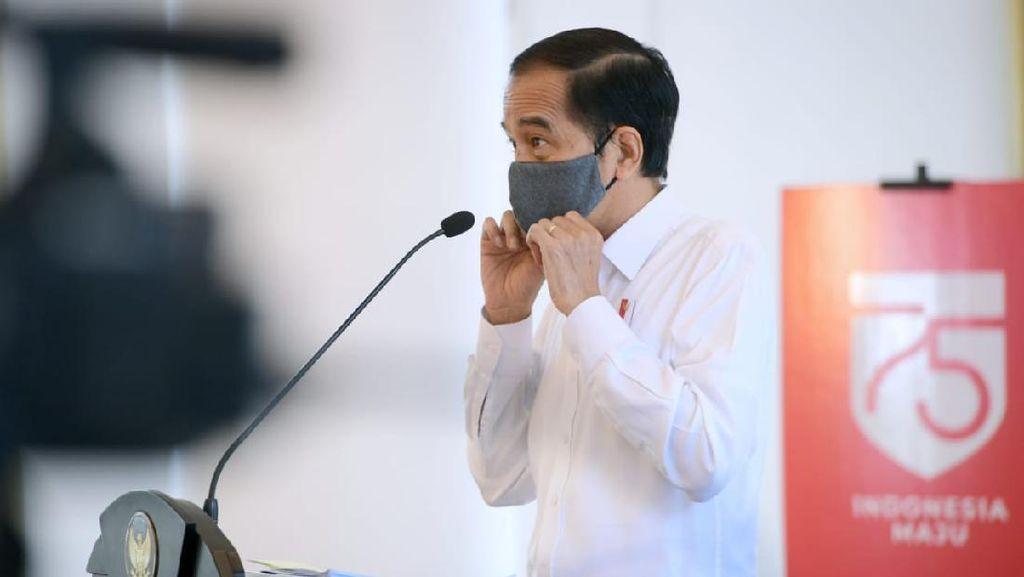 Jokowi Ungkap Ada Provinsi di Jawa yang 70% Warganya Tak Pakai Masker