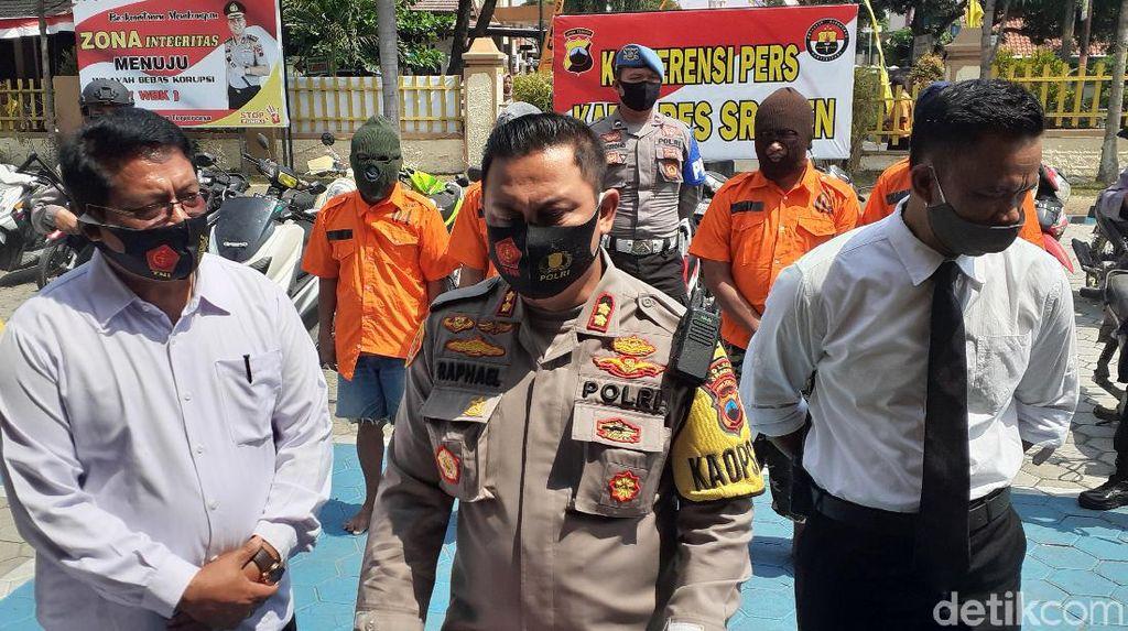 Polisi Tangkap 2 Pencuri Puluhan Motor Spesialis TKP Sawah di Sragen
