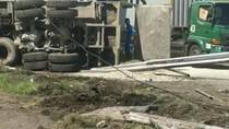 Ada Truk Terguling, Lalin di Tol Arah Tanjung Mulia Medan Macet