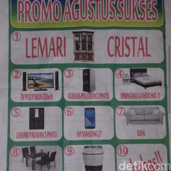 Penampakan brosur investasi bodong di Cianjur