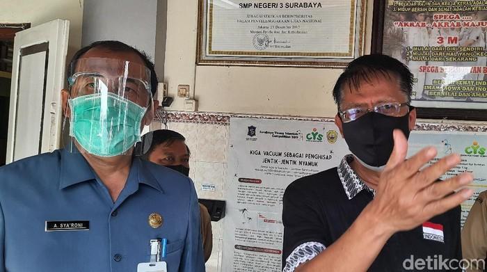 Sebanyak 21 SMP di Surabaya akan menggelar sekolah tatap muka. Hingga 4 hari ke depan, puluhan sekolah tersebut akan menggelar simulasi.