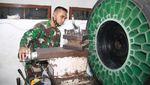 Canggihnya Teknologi Ban Tanpa Udara Buatan TNI AD
