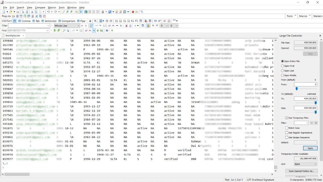 Kebocoran data kembali terjadi di Indonesia. Kali ini lebih dari 800 ribu data nasabah KreditPlus dijualbelikan di situs Raidforums.