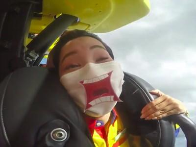 Naik Roller Coaster Tak Boleh Teriak, Jepang Bikin Masker Ekspresif