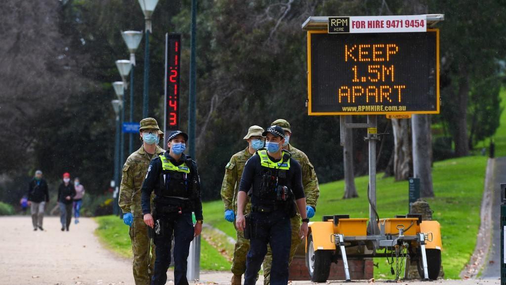 Corona Melonjak, Australia Kerahkan Militer dan Terapkan Denda Besar