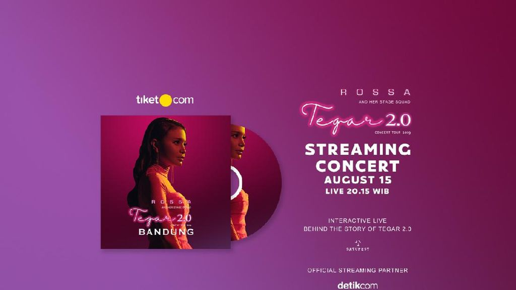 Wajib Dicatat! Rossa Segera Gelar Konser Streaming Tegar 2.0 Bandung