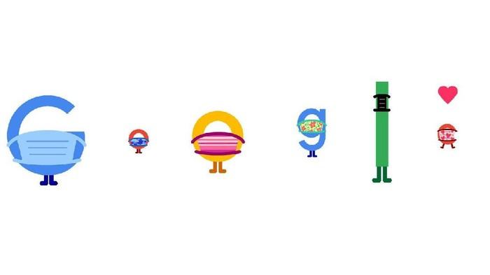 Google Doodle masker covid-19