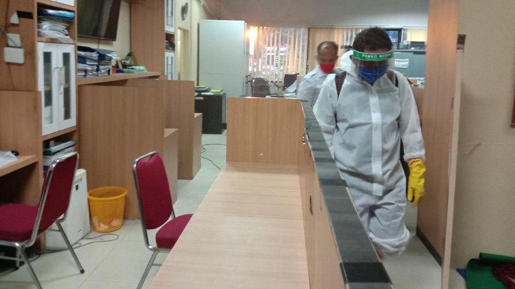 Plt Walkot Medan Positif Corona, Kantornya Disemprot Disinfektan
