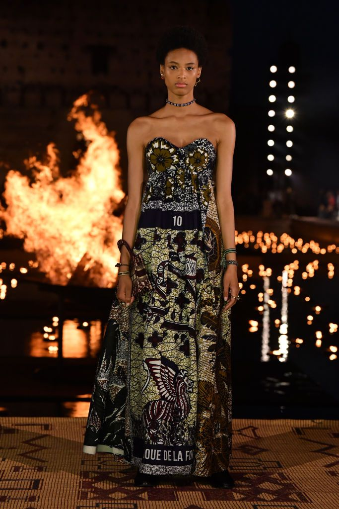 MARRAKECH, MOROCCO - APRIL 29: A model walks the runway during the Christian Dior Couture S/S20 Cruise Collection on April 29, 2019 in Marrakech, Morocco. (Photo by Pascal Le Segretain/Getty Images for Dior)