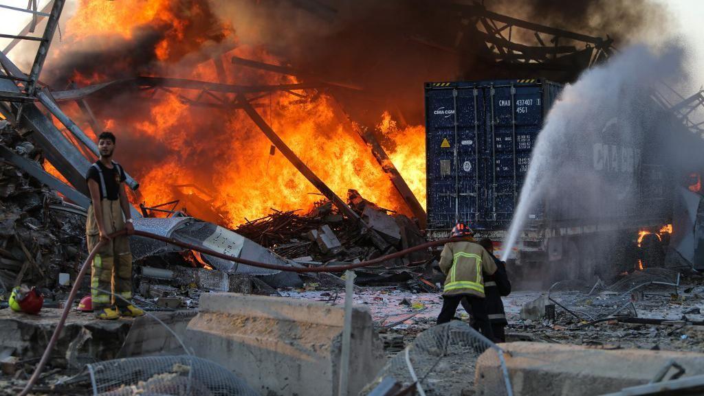 Kesaksian Warga Beirut Lihat 2 Ledakan di Lebanon: Mirip Bom Atom