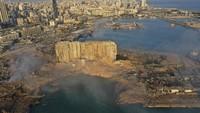 Lokasi Ledakan Lebanon Dilihat dari Atas