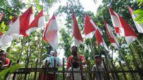 Warga Klaten Ini Pasang 75 Bendera Merah Putih di Rumahnya
