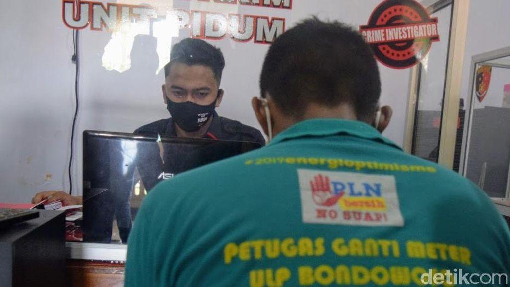 Pria di Bondowoso Curi Puluhan KWH Meter Listrik Pakai Seragam PLN