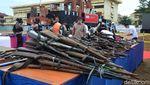 Ratusan Senjata Api Rakitan Dimusnahkan di Palembang