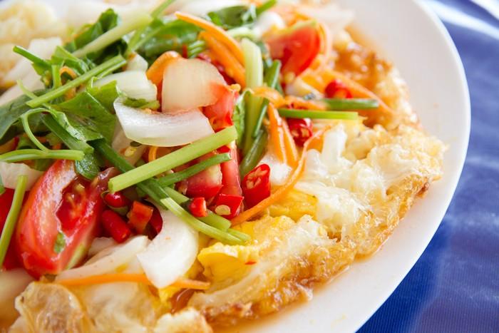 Resep Salad Telur Goreng ala Thai