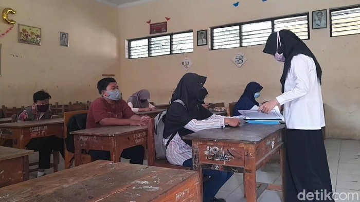 SMP Negeri 2 Jatibarang, Brebes, gelar pembelajaran tatap muka, Rabu (5/8/2020).