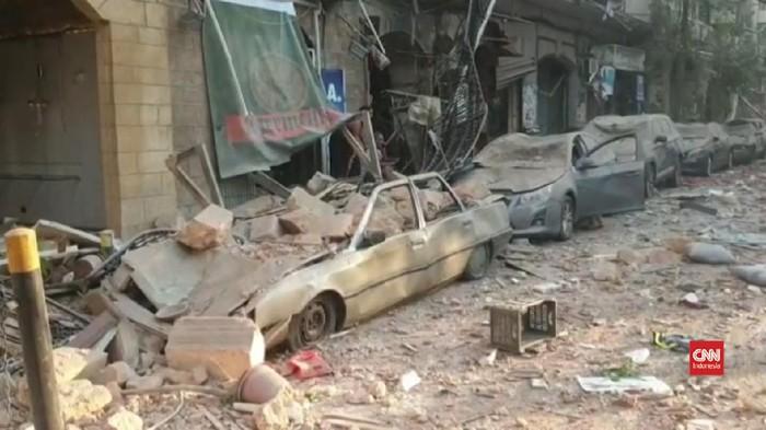 Thumbnail video kerusakan akibat ledakan di beirut