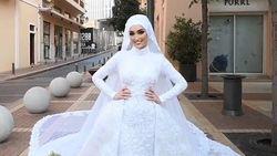 Detik-detik Momen Foto Pernikahan Berubah Jadi Bencana Saat Ledakan di Beirut