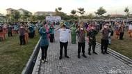 Semarak Gerakan Jatim Bermasker di Kota Kediri