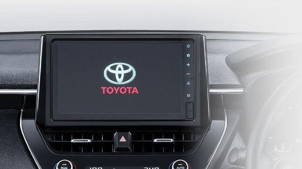 Headunit Toyota Corolla Cross yang dapat mengecek kartu uang elektronik.