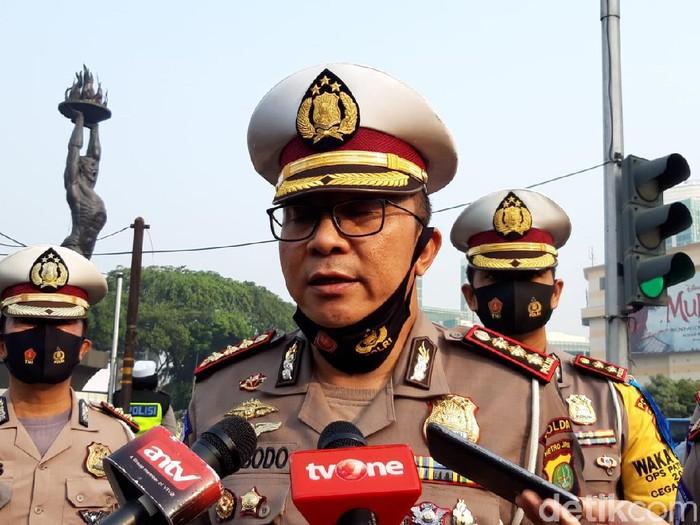 Direktur Lalu-lintas Polda Metro Jaya Kombes Sambodo Purnomo Yugo