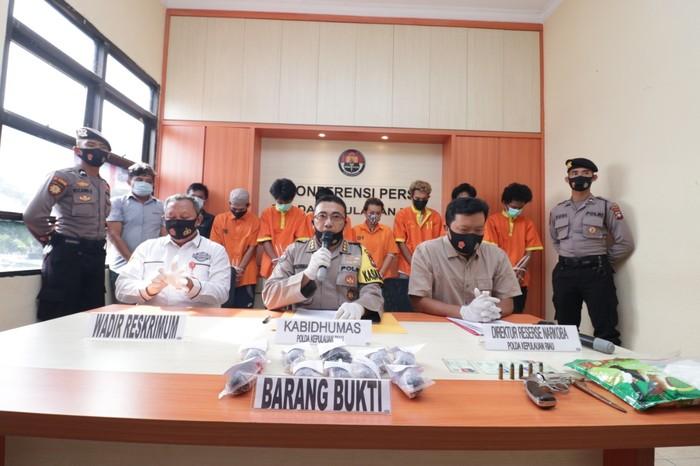 Konferensi pers kasus penyelundupan narkoba di Batam (dok. Istimewa)
