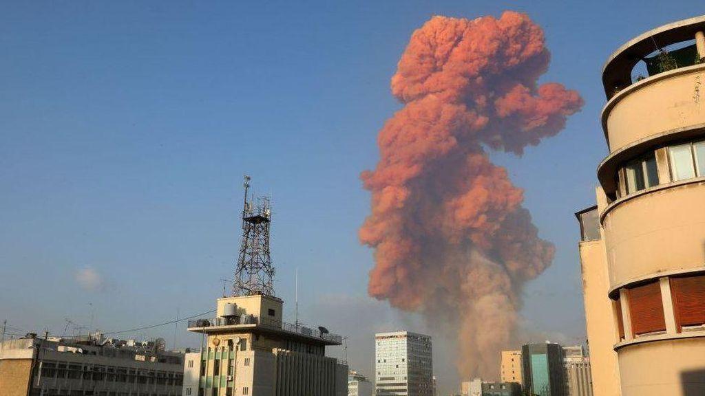 Video Dahsyatnya Ledakan di Beirut Terekam Saat Prewedding