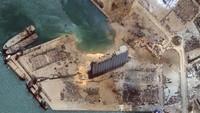 Bekas Ledakan di Lebanon Terlihat dari Satelit