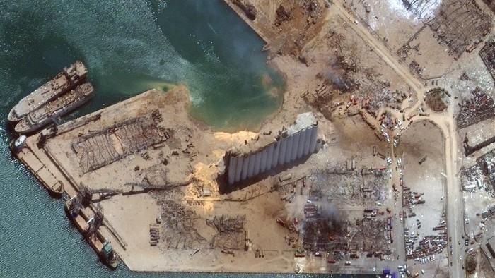 ledakan lebanon dari satelit
