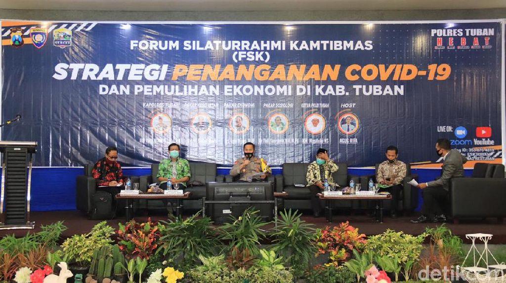 Polisi Diskusi Strategi Penanganan Corona dan Pemulihan Ekonomi di Tuban