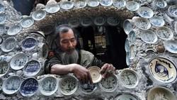Potret Tampilan Tidak Biasa Rumah Antik yang Dihiasi 10 Ribu Piring Porselen