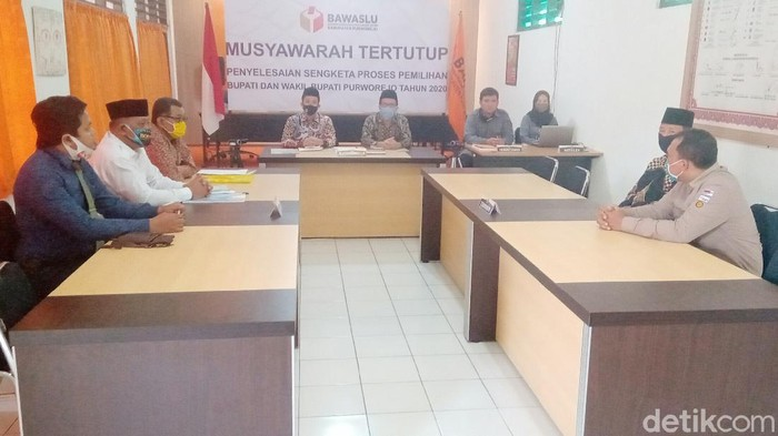 Sidang sengketa bapaslon independen Purworejo vs KPU di Bawaslu Purworejo