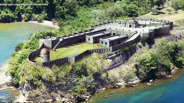 Benteng Portobelo dan San Lorenzo yang dibangun dari abad ke-17 hingga 18 di Panama (dok BudgetDirect)