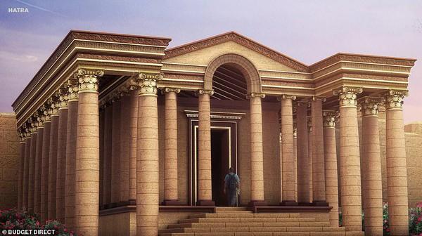 Reruntuhan Kuil Mrn di kota kuno Hatra yang jadi cikal bakal Irak (dok BudgetDirect)
