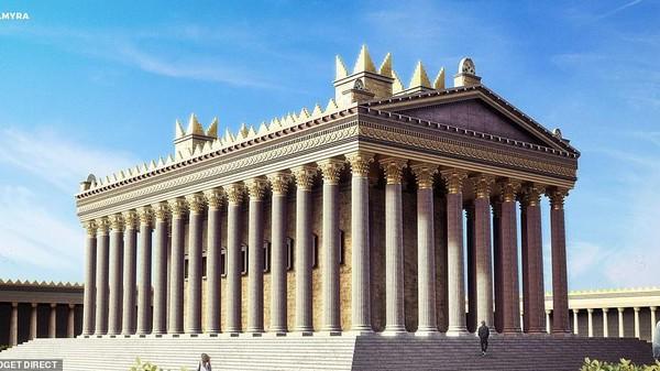 Kuil Bel di Palmyra, Suriah juga dihidupkan kembali seperti dahulu. Untuk informasi, kuil bersejarah ini rusak parah akibat dibom oleh kelompok radikal ISIS tahun 2015 silam (dok BudgetDirect)