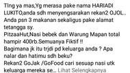 Viral Warga Surabaya Diteror 3 Makanan yang Tak Dipesan