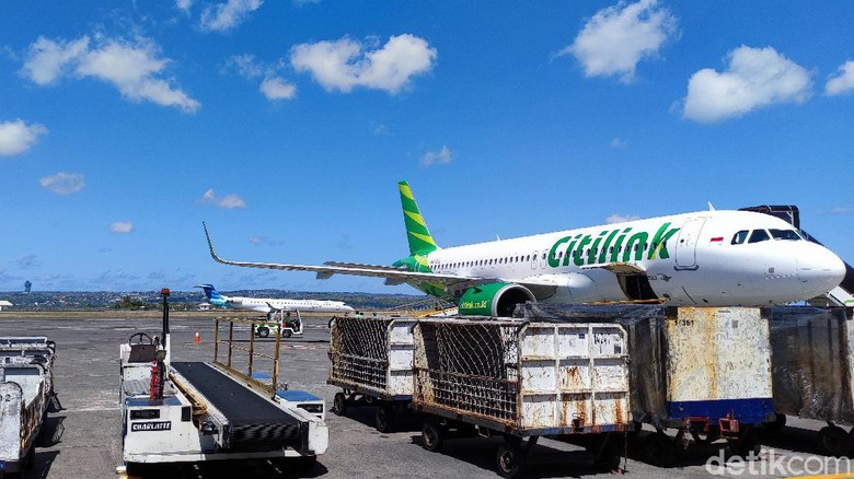 Citilink di bandara I Gusti Ngurah Rai
