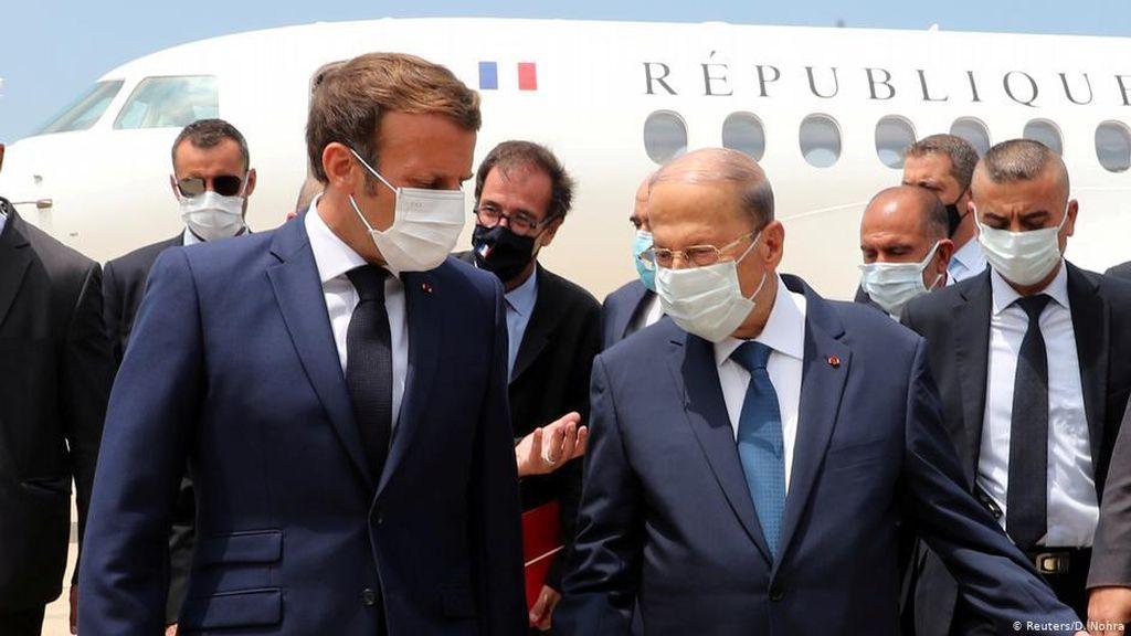 Demonstran di Beirut Minta Presiden Prancis Lengserkan Pemerintah Lebanon