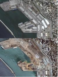 Foto Satelit Ledakan Lebanon