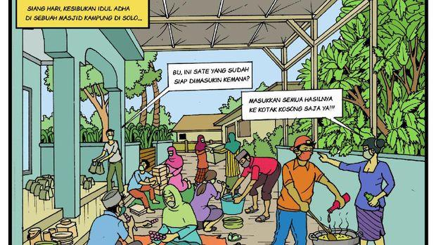 Ilustrasi visual Pilkada Solo karya Andi Setiawan
