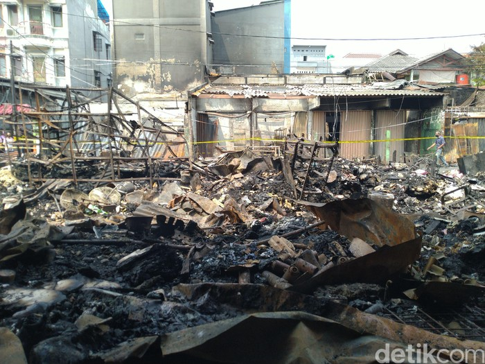 Kebakaran di Pasar TImbul Jakbar