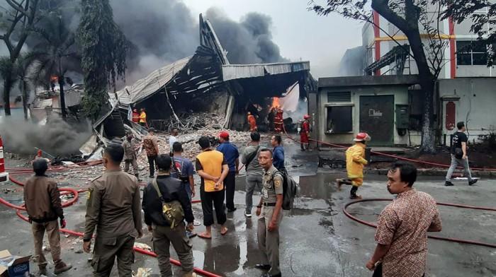 Lokasi kebakaran pabril di kawasan Sentul, Kabupaten Bogor.