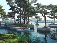Didesain oleh arsitek Australia Marshall Blecher dan Studio Fokstrot, serangkaian pulau taman buatan yang akan dibangun di pelabuhan Kopenhagen yang diberi nama Parkipelago. Istimewa/dok.Bored Panda/MIR
