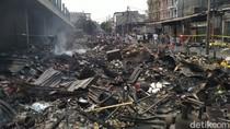 Pasar Timbul Tomang Luluh Lantak Usai Kebakaran, Ini Penampakannya