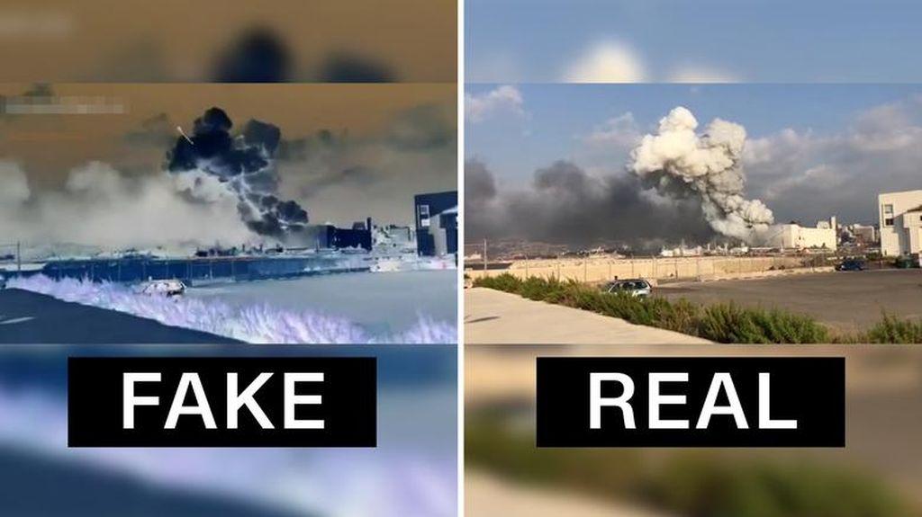 Video yang Tunjukkan Rudal Saat Ledakan di Lebanon Dipastikan Rekayasa