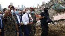 Presiden Prancis Kunjungi Lokasi Ledakan di Lebanon